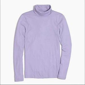 J. Crew lavender long sleeved tissue turtle neck